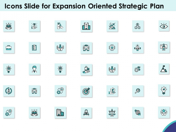 Icons Slide For Expansion Oriented Strategic Plan Ppt PowerPoint Presentation Summary Images PDF