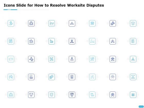 Icons Slide For How To Resolve Worksite Disputes Ppt Slides Demonstration PDF