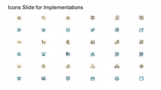 Icons Slide For Implementations Ppt Model Example PDF