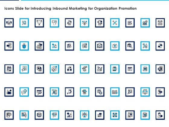 Icons Slide For Introducing Inbound Marketing For Organization Promotion Portrait PDF