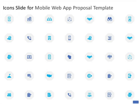 Icons Slide For Mobile Web App Proposal Template Ppt PowerPoint Presentation Professional Gridlines PDF