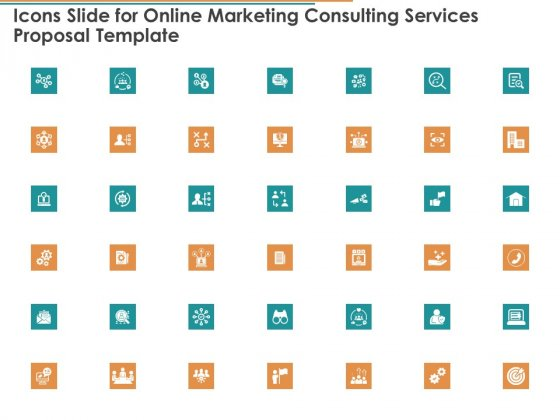 Icons Slide For Online Marketing Consulting Services Proposal Template Ppt Portfolio Background PDF
