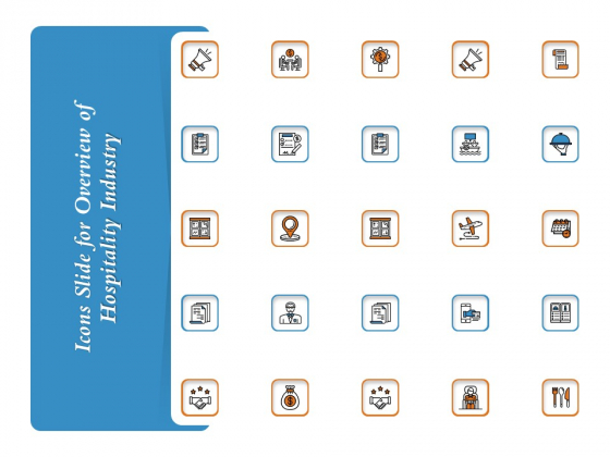 Icons Slide For Overview Of Hospitality Industry Rules PDF