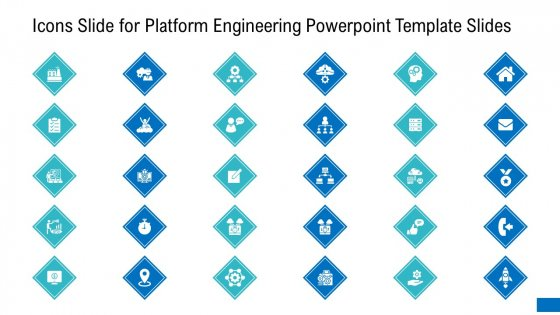 Icons Slide For Platform Engineering PowerPoint Template Slides Summary PDF