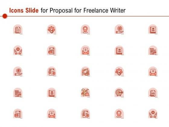 Icons Slide For Proposal For Freelance Writer Ppt PowerPoint Presentation Gallery Portfolio PDF