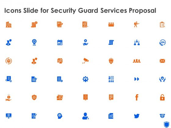 Icons Slide For Security Guard Services Proposal Ppt Summary Design Inspiration PDF