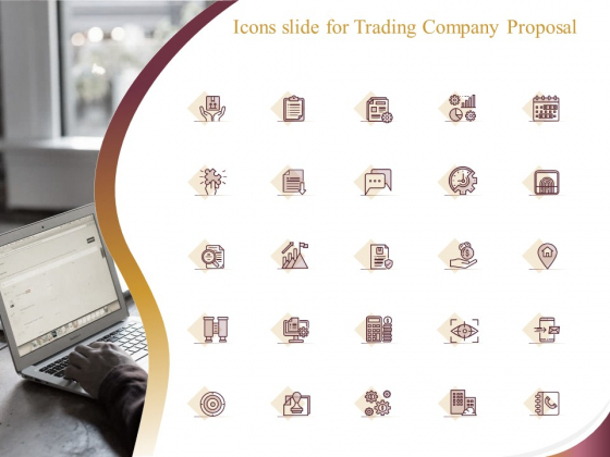 Icons Slide For Trading Company Proposal Ppt Slides Picture PDF