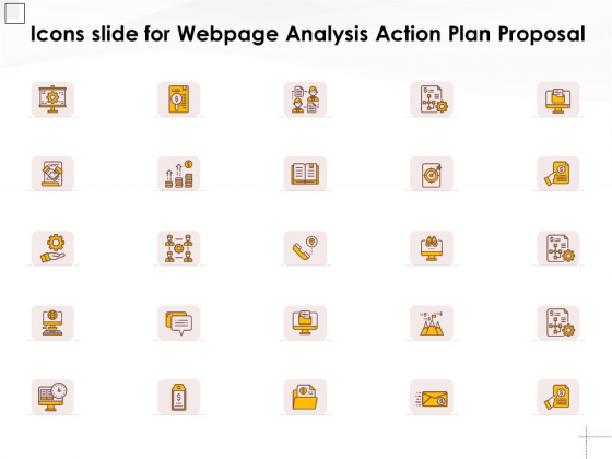 Icons Slide For Webpage Analysis Action Plan Proposal Ppt PowerPoint Presentation Professional Images PDF
