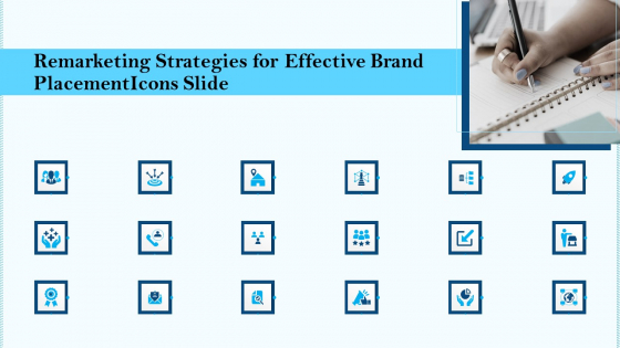 Icons Slide Remarketing Strategies For Effective Brand Placement Ppt Gallery Maker PDF