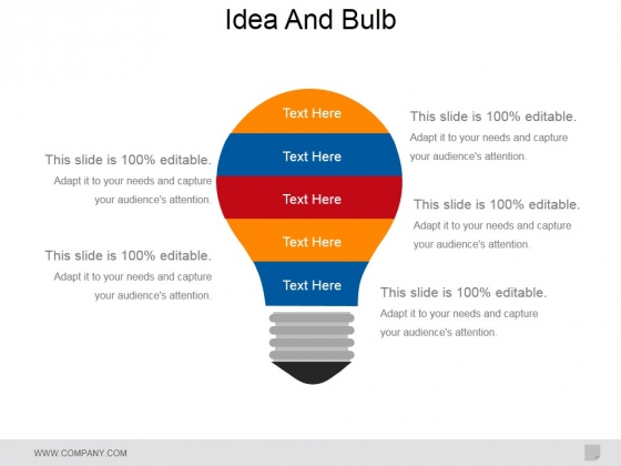 Idea And Bulb Ppt PowerPoint Presentation Styles Guidelines