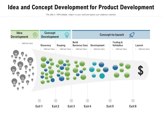 Idea And Concept Development For Product Development Ppt PowerPoint Presentation Styles Graphics PDF