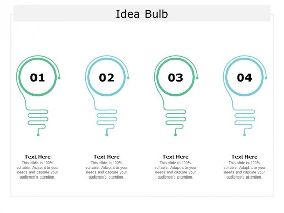 Idea Bulb Technology Ppt Powerpoint Presentation Layouts Infographic Template