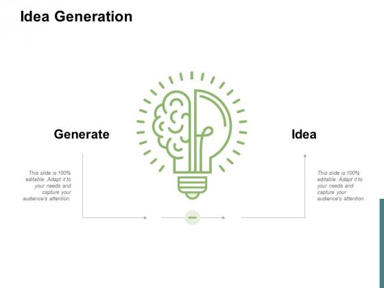 Idea Generation Innovation Ppt PowerPoint Presentation Inspiration Gallery