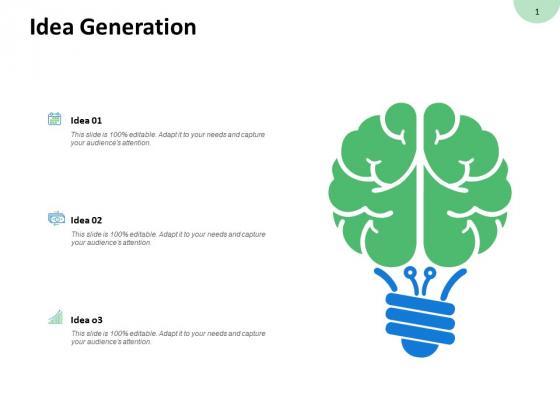 Idea Generation Innovation Ppt PowerPoint Presentation Model Tips