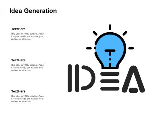 Idea Generation Innovation Ppt PowerPoint Presentation Slides Inspiration
