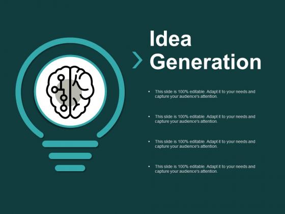 Idea Generation Innovation Ppt PowerPoint Presentation Summary Smartart