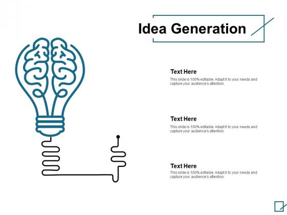 Idea Generation Marketing Ppt PowerPoint Presentation Professional Brochure