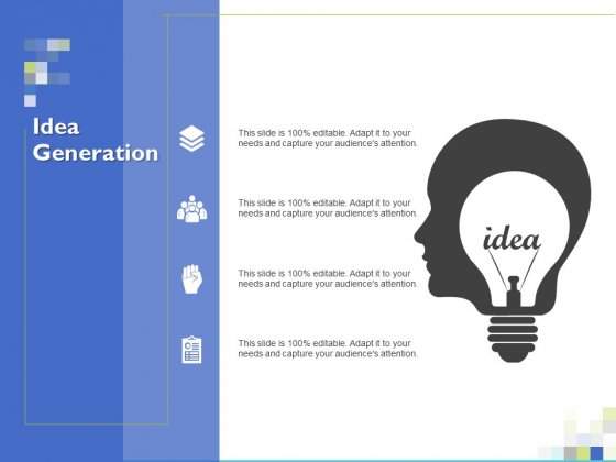 Idea Generation Ppt PowerPoint Presentation Model Sample