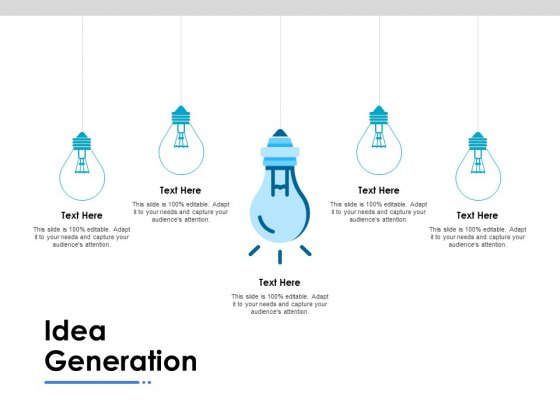 Idea Generation Ppt PowerPoint Presentation Outline Model