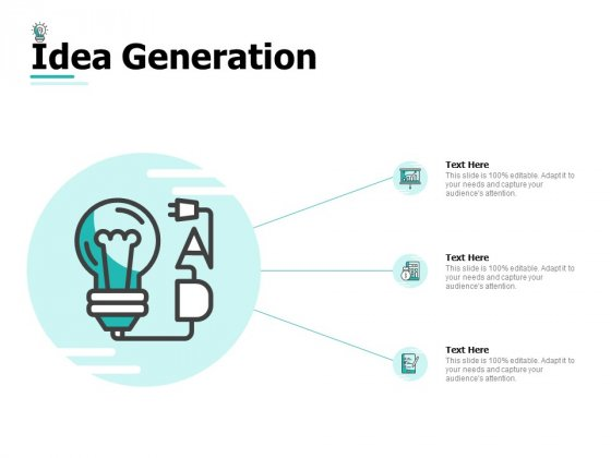 Idea Generation Ppt PowerPoint Presentation Professional Elements