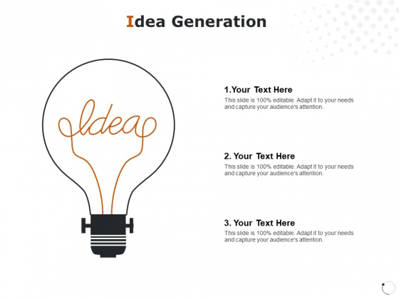 Idea Generation Technology Ppt PowerPoint Presentation Show