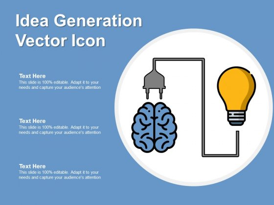 Idea Generation Vector Icon Ppt PowerPoint Presentation Infographic Template Master Slide PDF