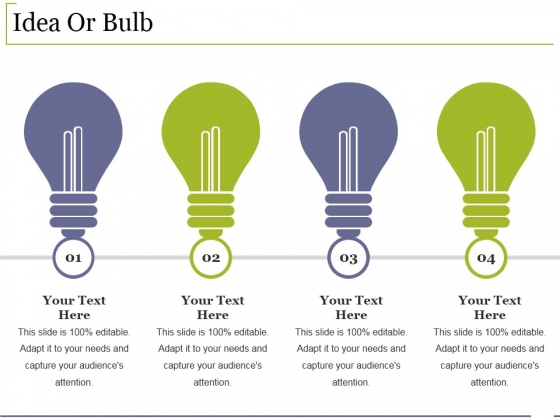 Idea Or Bulb Ppt PowerPoint Presentation File Gridlines