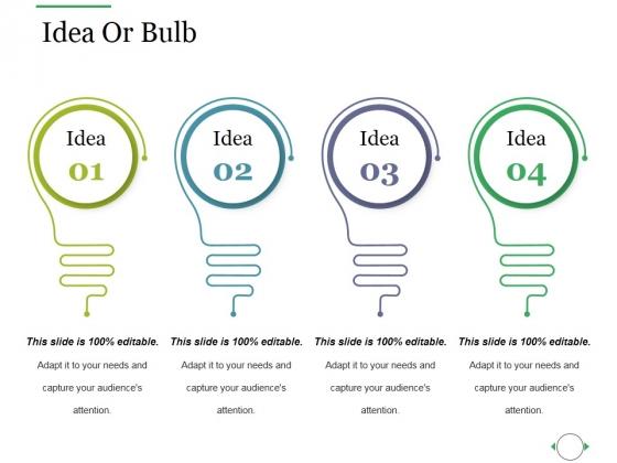 Idea Or Bulb Ppt PowerPoint Presentation Ideas Shapes