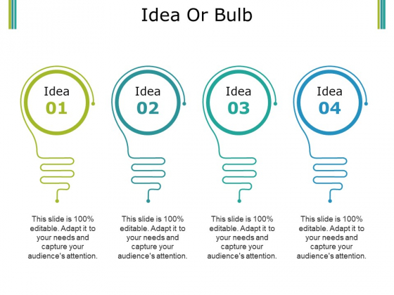 Idea Or Bulb Ppt PowerPoint Presentation Portfolio Ideas