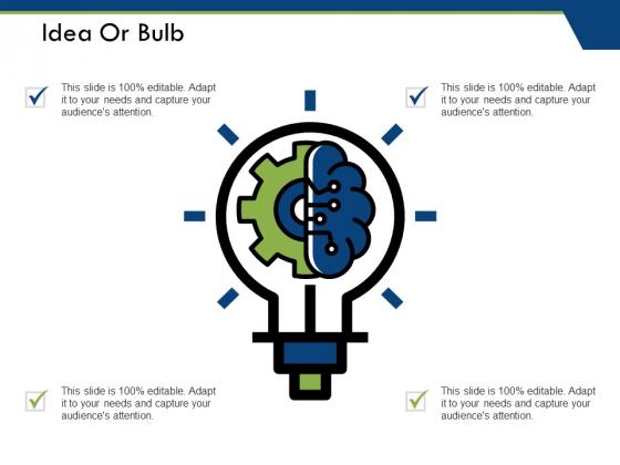 Idea Or Bulb Ppt PowerPoint Presentation Slides Background Images
