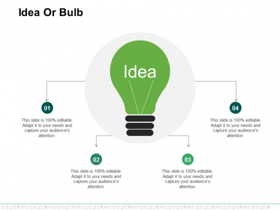 Idea Or Bulb Ppt PowerPoint Presentation Styles Vector