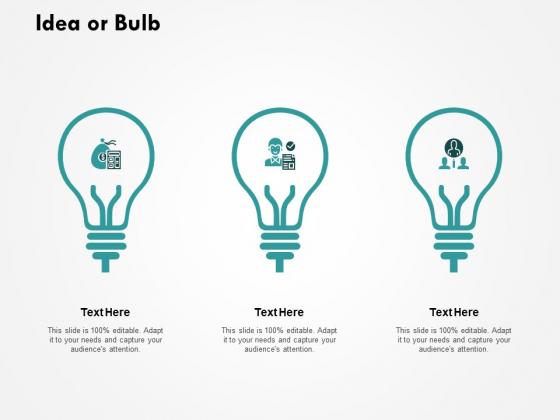 Idea Or Bulb Technologey Ppt PowerPoint Presentation Portfolio Deck