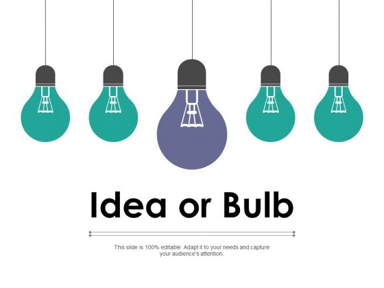 Idea Or Bulb Technology Ppt PowerPoint Presentation Influencers