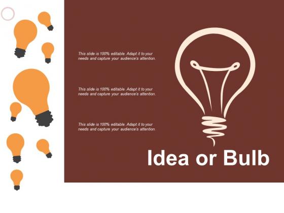 Idea Or Bulb Technology Ppt PowerPoint Presentation Infographics Slideshow