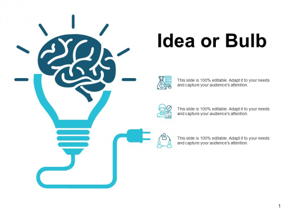 Idea Or Bulb Technology Ppt Powerpoint Presentation Inspiration Professional