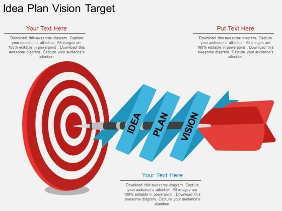 Idea Plan Vision Target Powerpoint Template