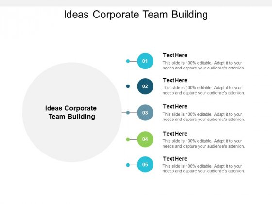 Ideas Corporate Team Building Ppt PowerPoint Presentation Model Background Images