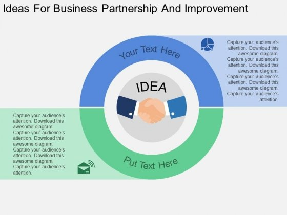 Ideas For Business Partnership And Improvement Powerpoint Template