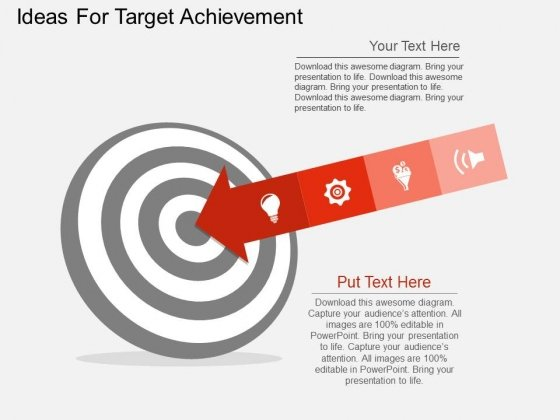 Ideas For Target Achievement Powerpoint Templates
