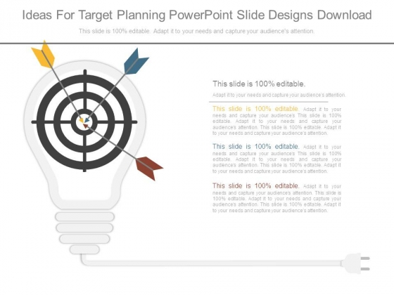 Ideas For Target Planning Powerpoint Slide Designs Download