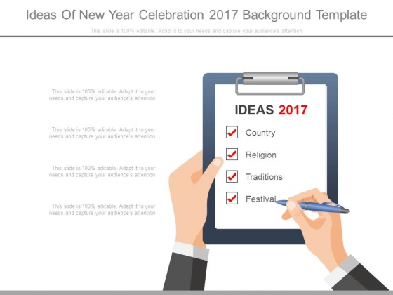 Ideas Of New Year Celebration 2017 Background Template