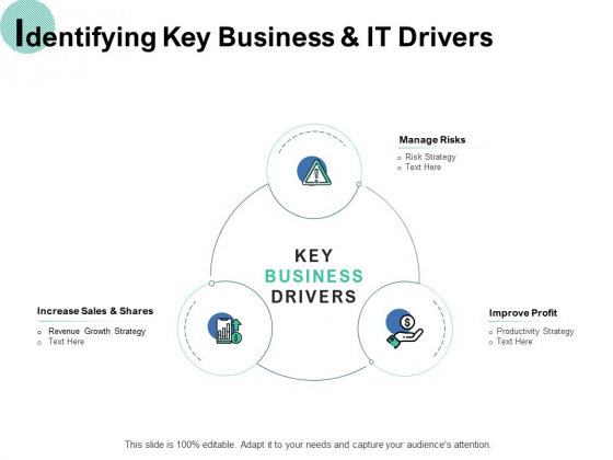 Identifying Key Business And It Drivers Ppt PowerPoint Presentation Show Slide Portrait