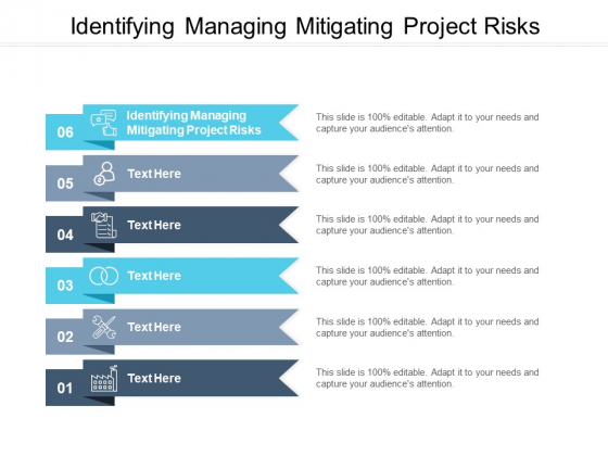 Identifying Managing Mitigating Project Risks Ppt PowerPoint Presentation Inspiration Ideas Cpb Pdf