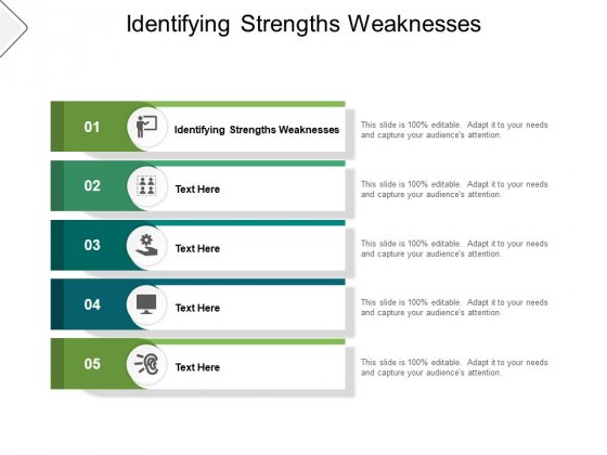 Identifying Strengths Weaknesses Ppt PowerPoint Presentation File Display Cpb