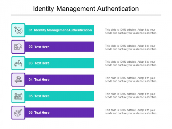 Identity Management Authentication Ppt PowerPoint Presentation Inspiration Structure Cpb