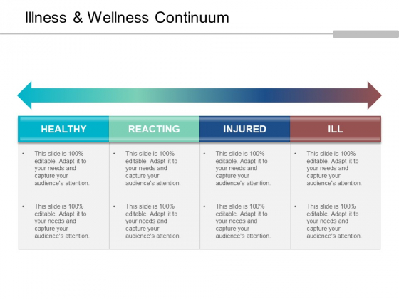 Illness And Wellness Continuum Ppt PowerPoint Presentation Layouts Background Image