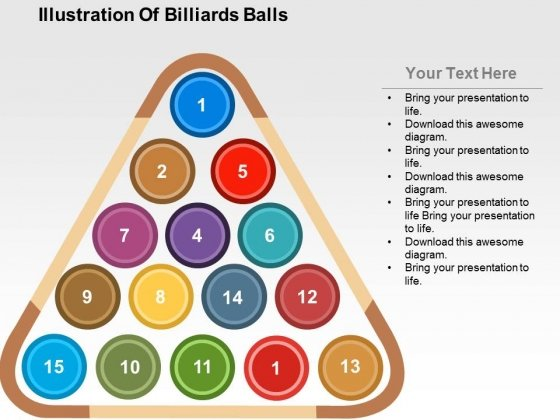 Illustration Of Billiards Balls Powerpoint Templates