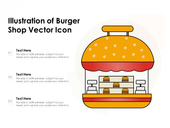 Illustration Of Burger Shop Vector Icon Ppt PowerPoint Presentation Inspiration Samples