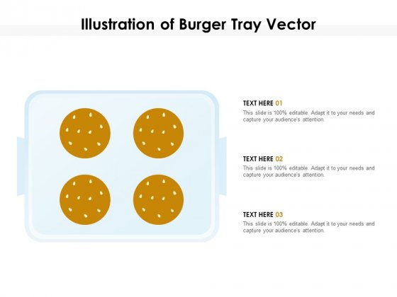 Illustration Of Burger Tray Vector Ppt PowerPoint Presentation Gallery Aids