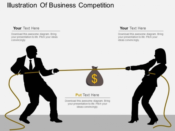 Illustration Of Business Competition Powerpoint Template